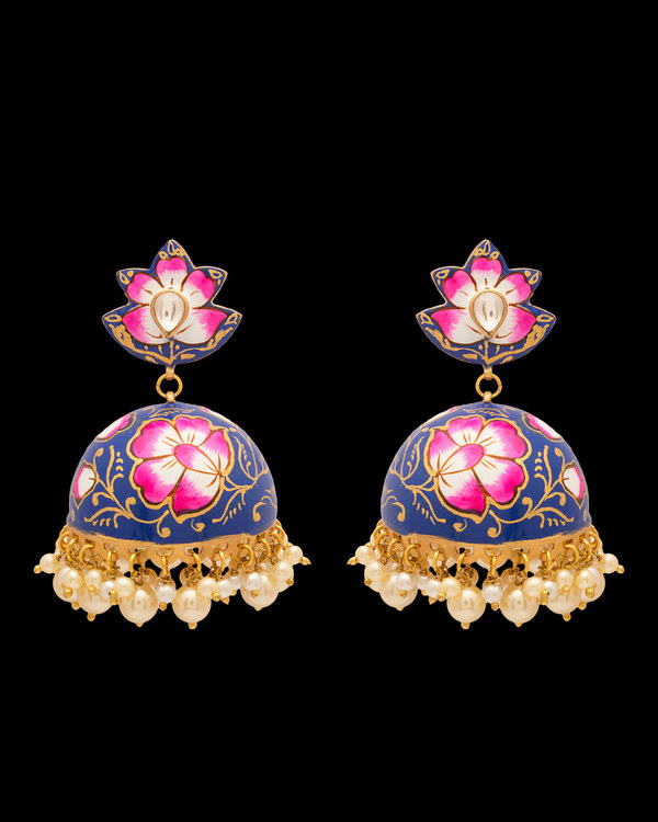 Diwan I Khas Spring Is In The Air Meenakari Jhumka Earrings