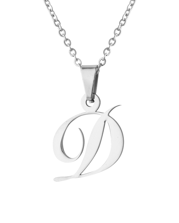 initial diamond love pendant silver necklaces a letter jewellery letters